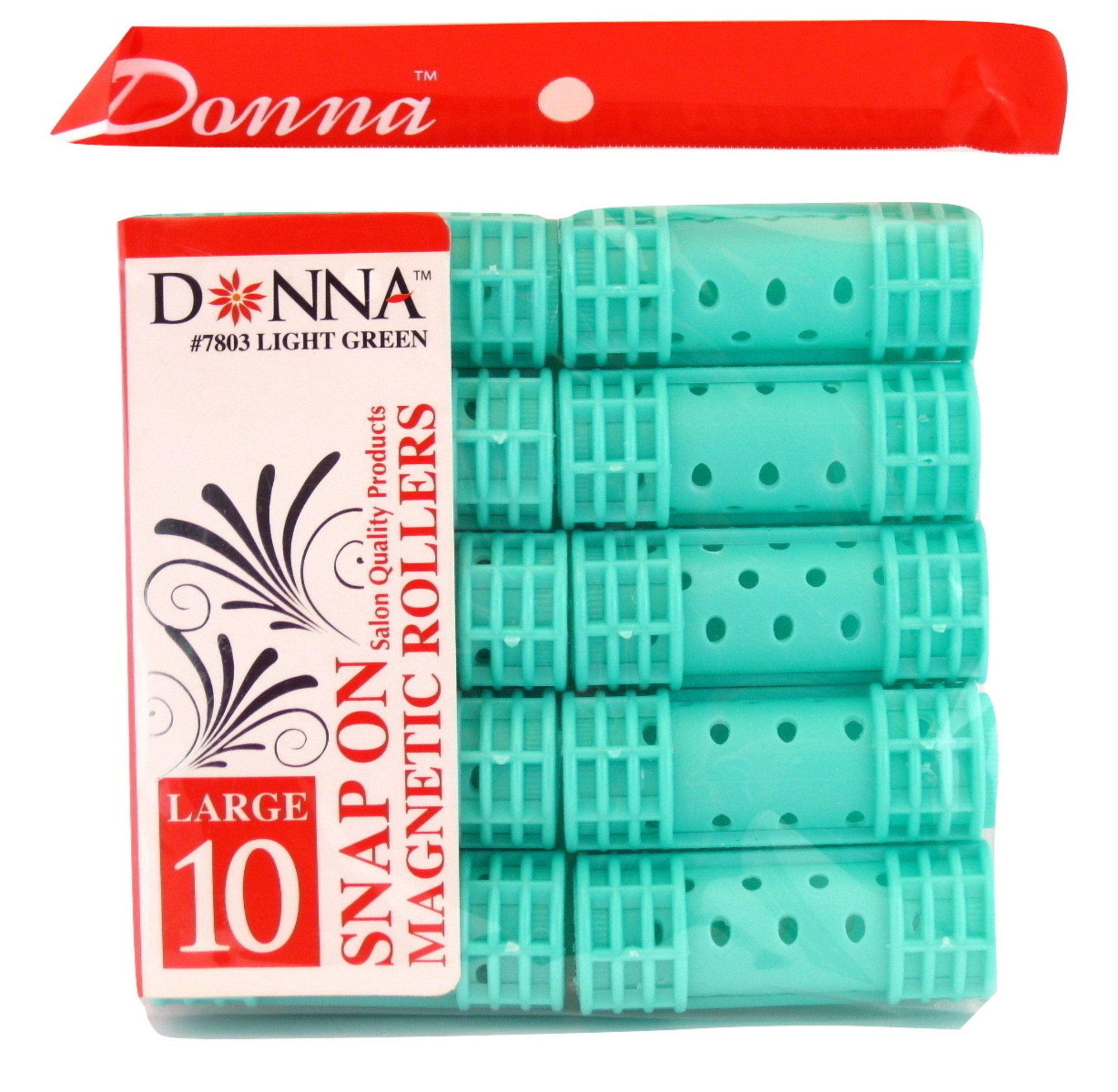 "Donna Salon Quality Snap On Magnetic Hair Rollers (Large - 7/8"")"