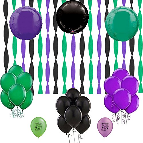 Hulk Coordinating Colors Streamers and Balloon Room Decorating Kit
