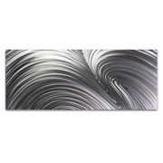 Metal Art Studio 'Fusion Composition' Photographic Print on Metal in Silver