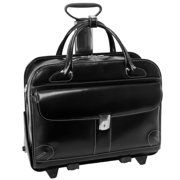 """McKlein, W Series, LAKEWOOD, Top Grain Cowhide Leather, 15"""" Leather Fly-Through Checkpoint-Friendly Patented Detachable -Wheeled Ladies' Laptop Briefcase"""