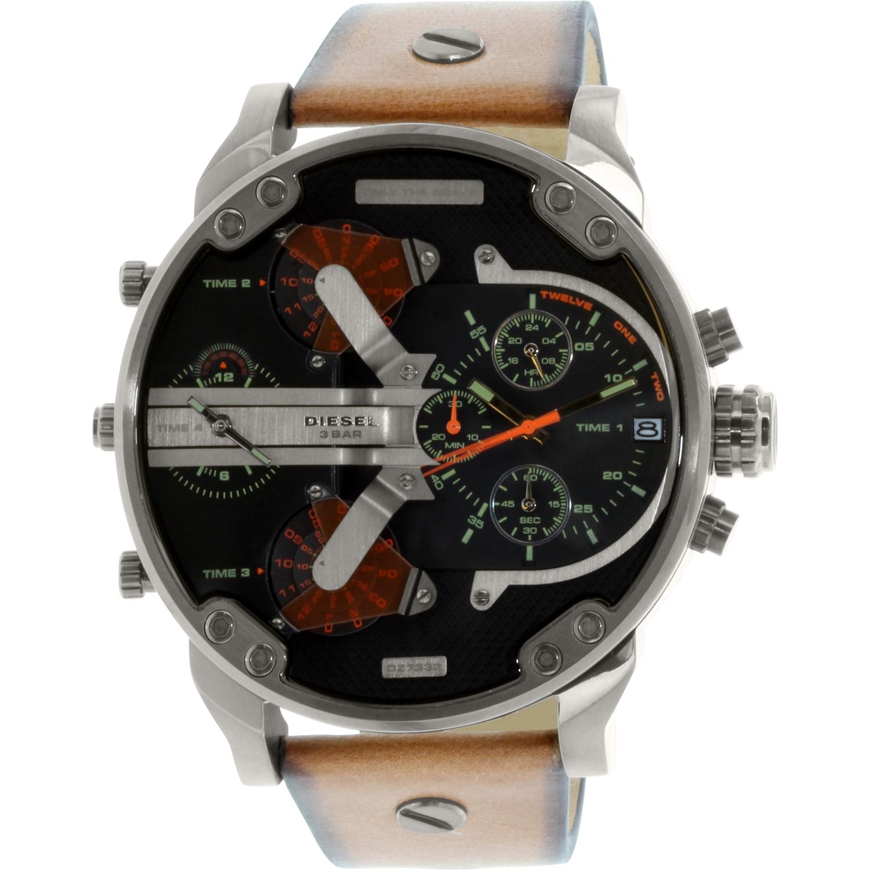 Diesel Men's Mr. Daddy DZ7332 Brown Leather Quartz Watch