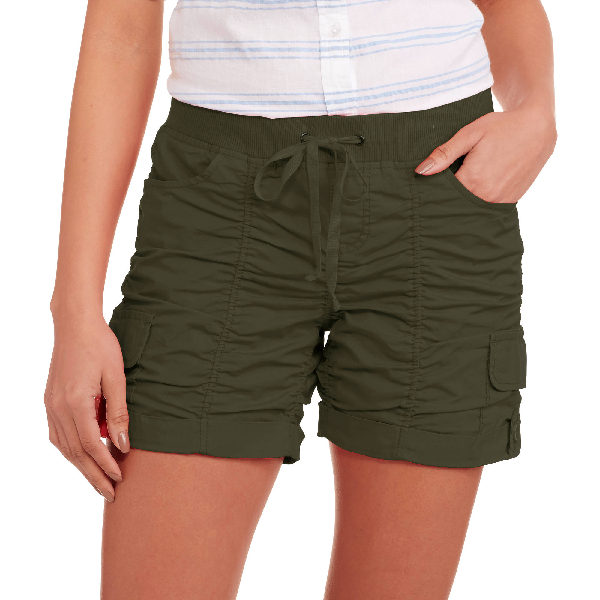 No Boundaries Juniors' Ruched Shorts