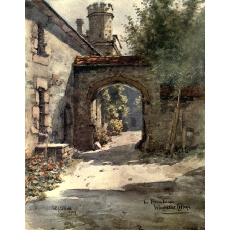 Winchester 1910 Brewhouse Winchester College Canvas Art - Wilfrid Ball (18 x 24) ()
