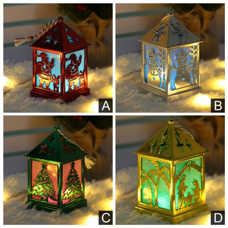 LED Light Up Small Wooden House Pendant Luminous ,Christmas Tree Ornament Decorative Hanging Lantern Holiday Decor Supplies,UP Lights, LED DJ Lights Sound Activated Stage Lights lantern, ()