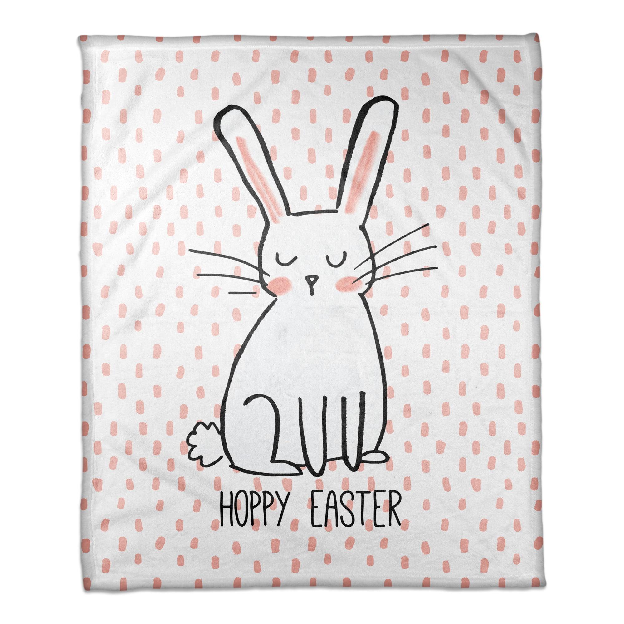 Hoppy Easter 30x40 Coral Fleece Blanket