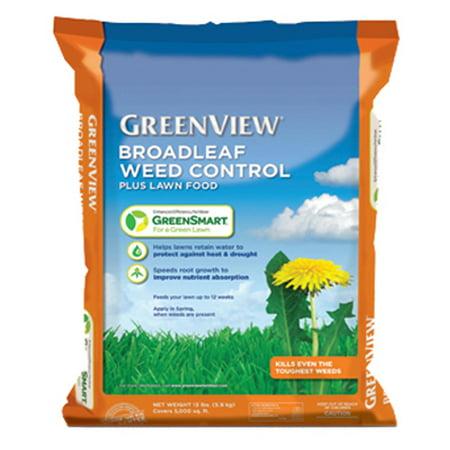 GreenView Broadleaf Weed Control Plus Lawn Food, 13 lb. bag Covers 5,000 sq (Best Broadleaf Weed Control)