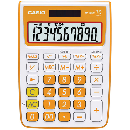 Casio MS-10VC-PL 10-Digit Desktop Calculator