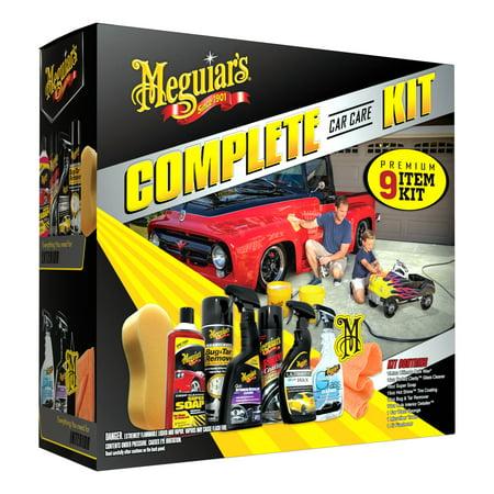 Meguiar's 9-Piece Complete Car Care (Cars Shiny Wax)