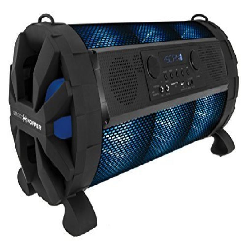 Street Hopper 8 Portable Bluetooth Boombox Speaker with LED Lights by Street Hopper