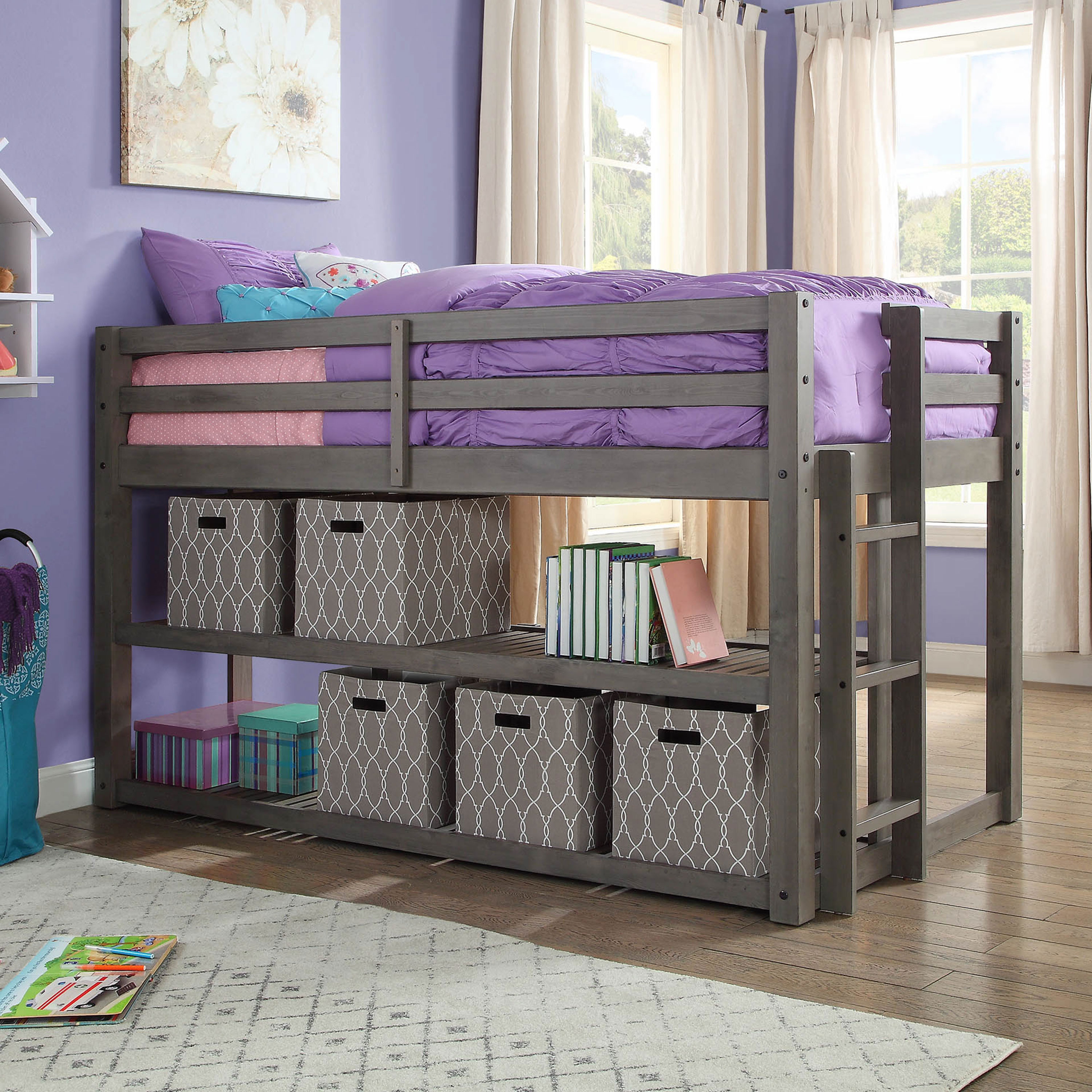 Superieur Better Homes And Gardens Loft Storage Bed With Spacious Storage Shelves,  Multiple Finishes   Walmart.com