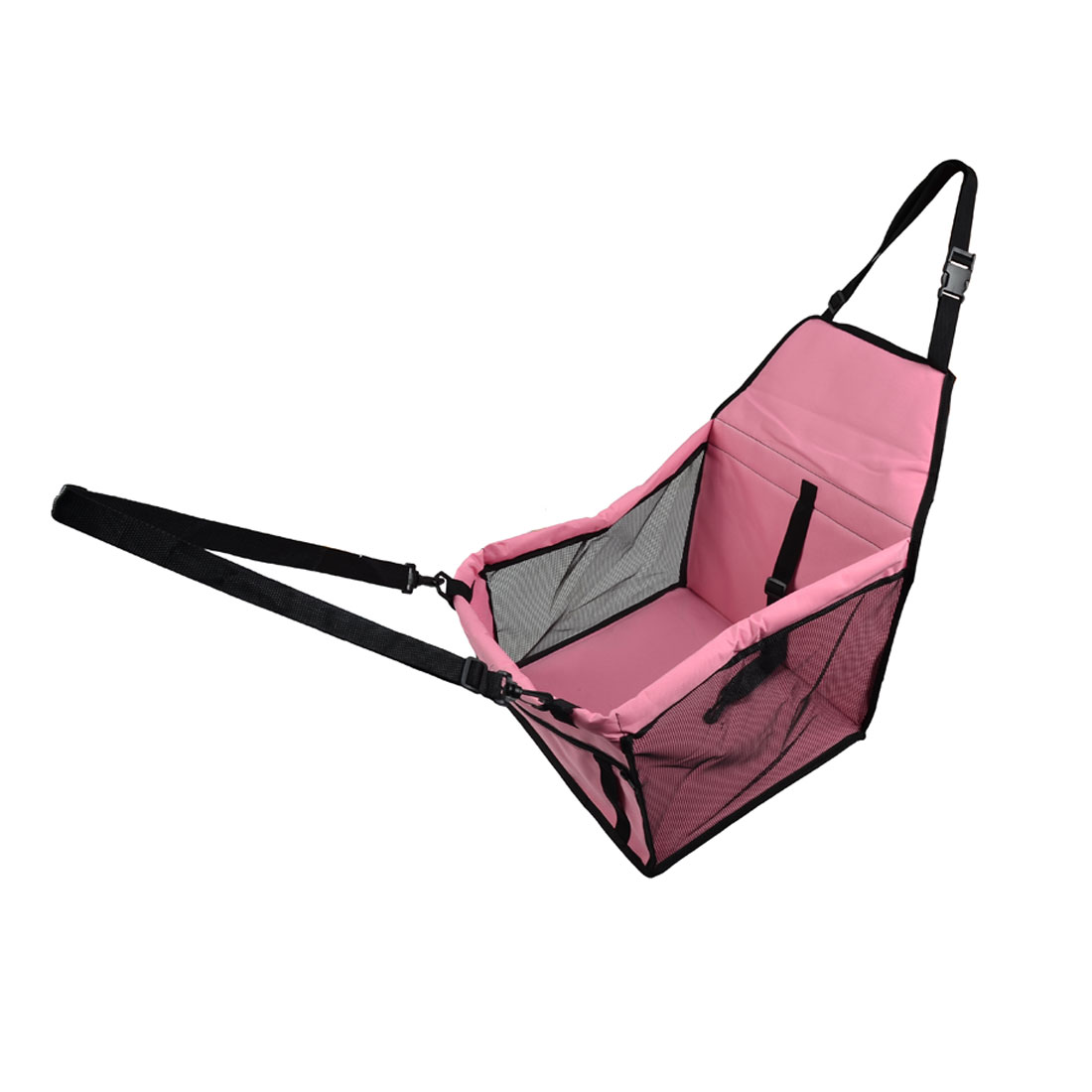 Travel Nylon Meshy Pet Carrier Car Dog Crate Cat Case Lookout Booster  Pink