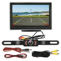 "Car Backup Camera Rear View System, 5"" TFT LCD Monitor +Night Vision Backup Camera Waterproof Reverse Parking System"