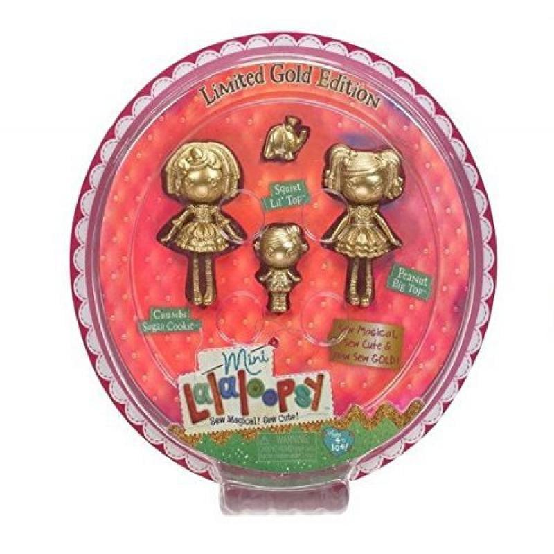 Mini Lalaloopsy Gold Edition 3 Pack: Crumbs Sugar Cookie, Peanut Big Top & Squirt Lil' Top
