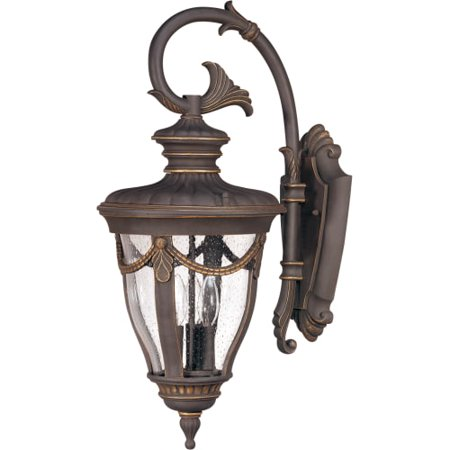 Satco Philippe Belgium Bronze Transitional Outdoor w/ 3 Light 60W