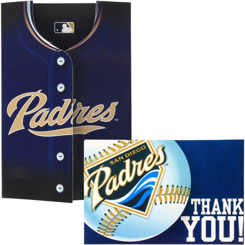 San Diego Padres Invitation and Thank You Card Set - No Size