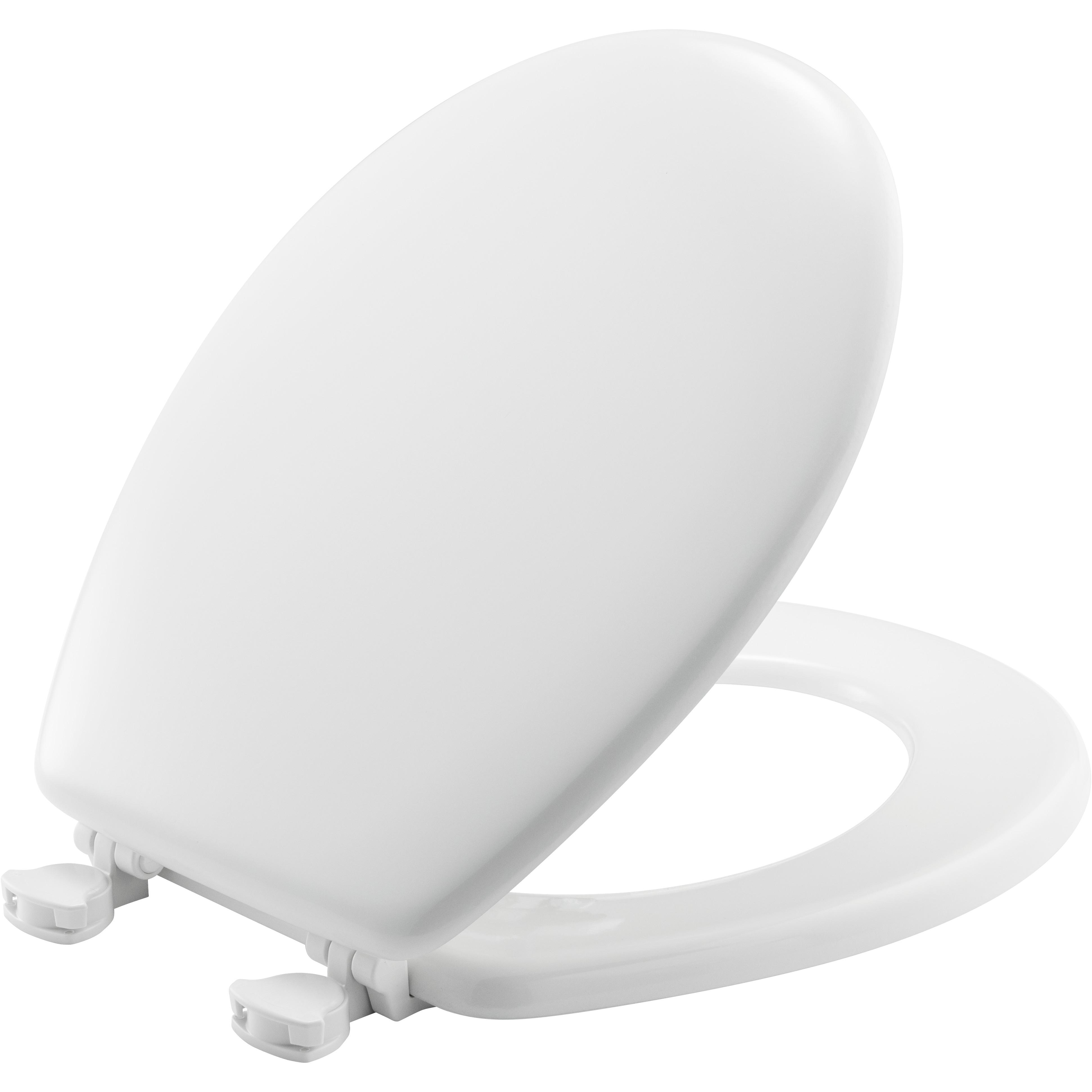 Crane White Centoco 700-301 Centocore Molded Wood Technology Round Toilet Seat