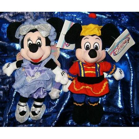 Disneys Mickey and Minnie Mouse Nutcracker 7 Plush Bean Bag Set - image 1 de 1
