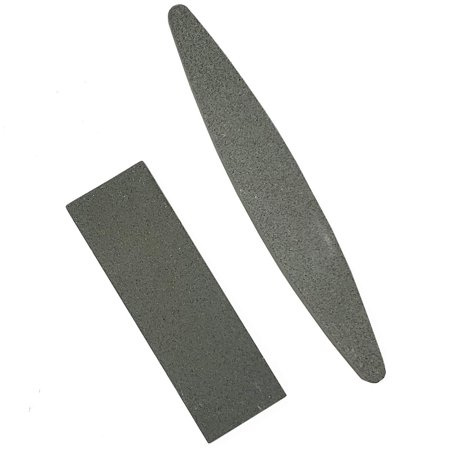 2Pc Assorted Double Sided Sharpening Stones Set for Sharpening Knives, Scissors,Cleavers,Axes, Chisels & Small tools (Coarse Grit Aluminium Oxide Stone) Amazing Flat