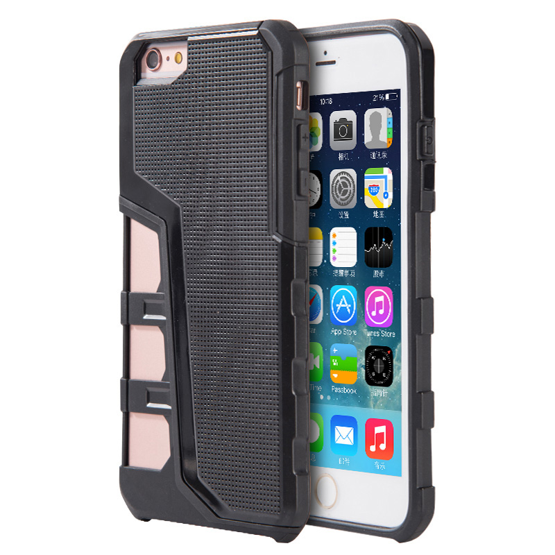 Phone Case for iPhone 6/6S Hyper Sport Dual Hybrid Case With Black Tpu+ Black Pc Back Plate