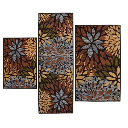 3 Piece Floral Rectangle Nylon Machine Made Contains Latex Non Skid Backing Cleopatra Printed Area Rugs Set  A Vibrant And Bold Design In Todays    By Jen