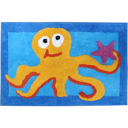 Allure fish tails bath rug for Fish bath rug