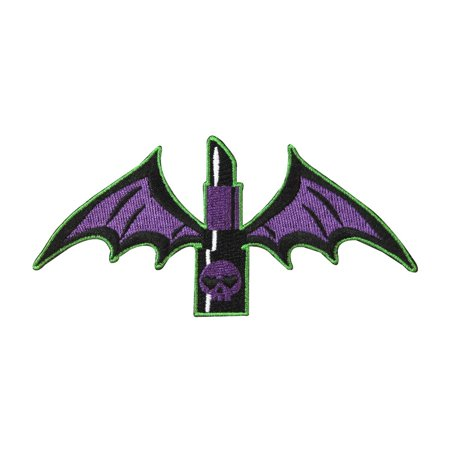 Bat Wing Lipstick Patch Kreepsville Chic Freak Craft Apparel Iron-On Applique