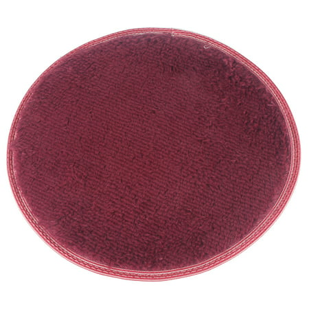 NK HOME Round Area Rugs Super Soft Fluffy Living Room Bedroom Home Decration Shaggy Carpet Kids Room Children Room Girls Room Nursery Red Pink Brown (Red Carpet Entrance)