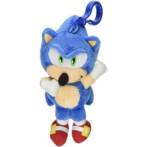 "Sonic The Hedgehog 4"" Talking Plush Clip On Sonic"