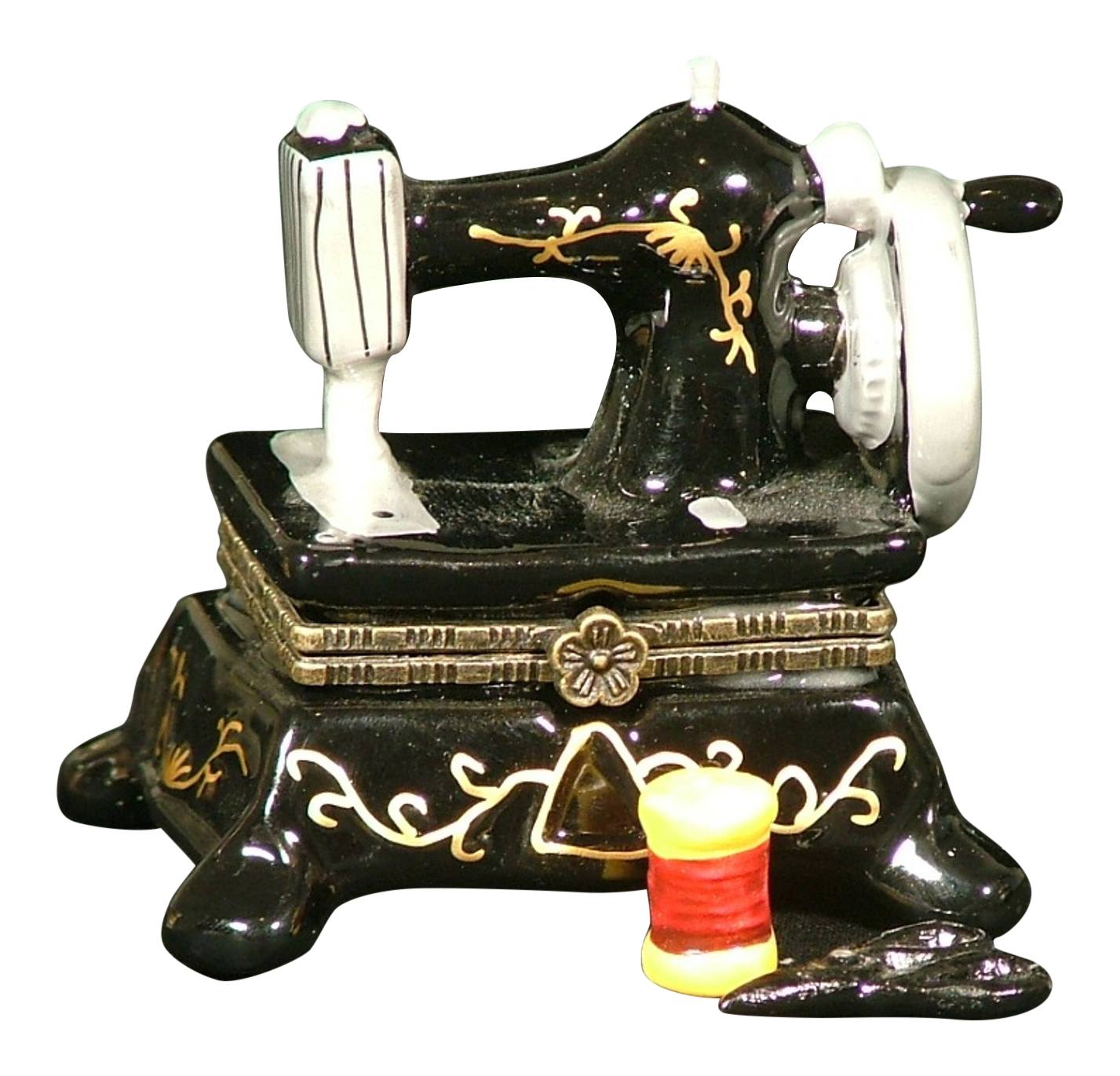 Sew Seamstress Sewing Machine Hinge Trinket Box phb 197