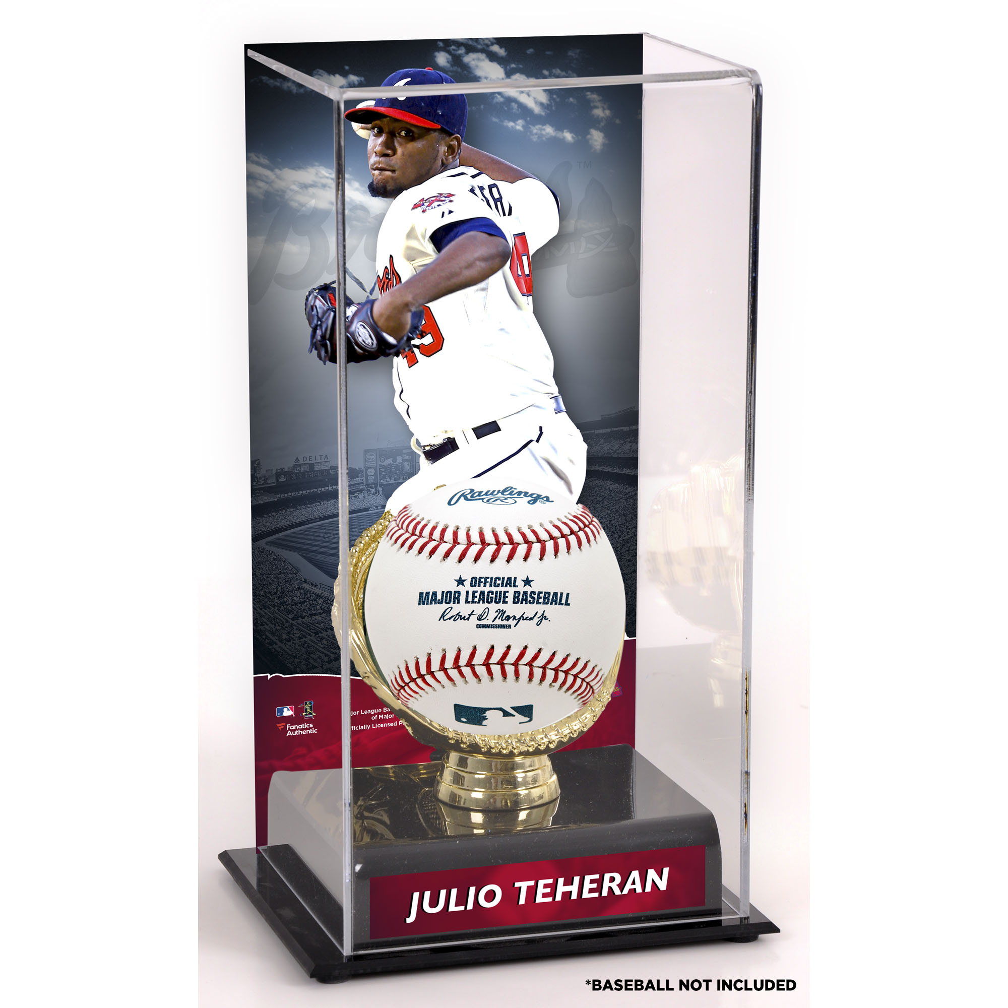 Julio Teheran Atlanta Braves Fanatics Authentic Gold Glove Display Case with Image - No Size