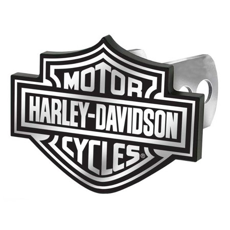 - Harley-Davidson Hitch Cover, Black/White Bar & Shield Logo Hitch Plug 2287