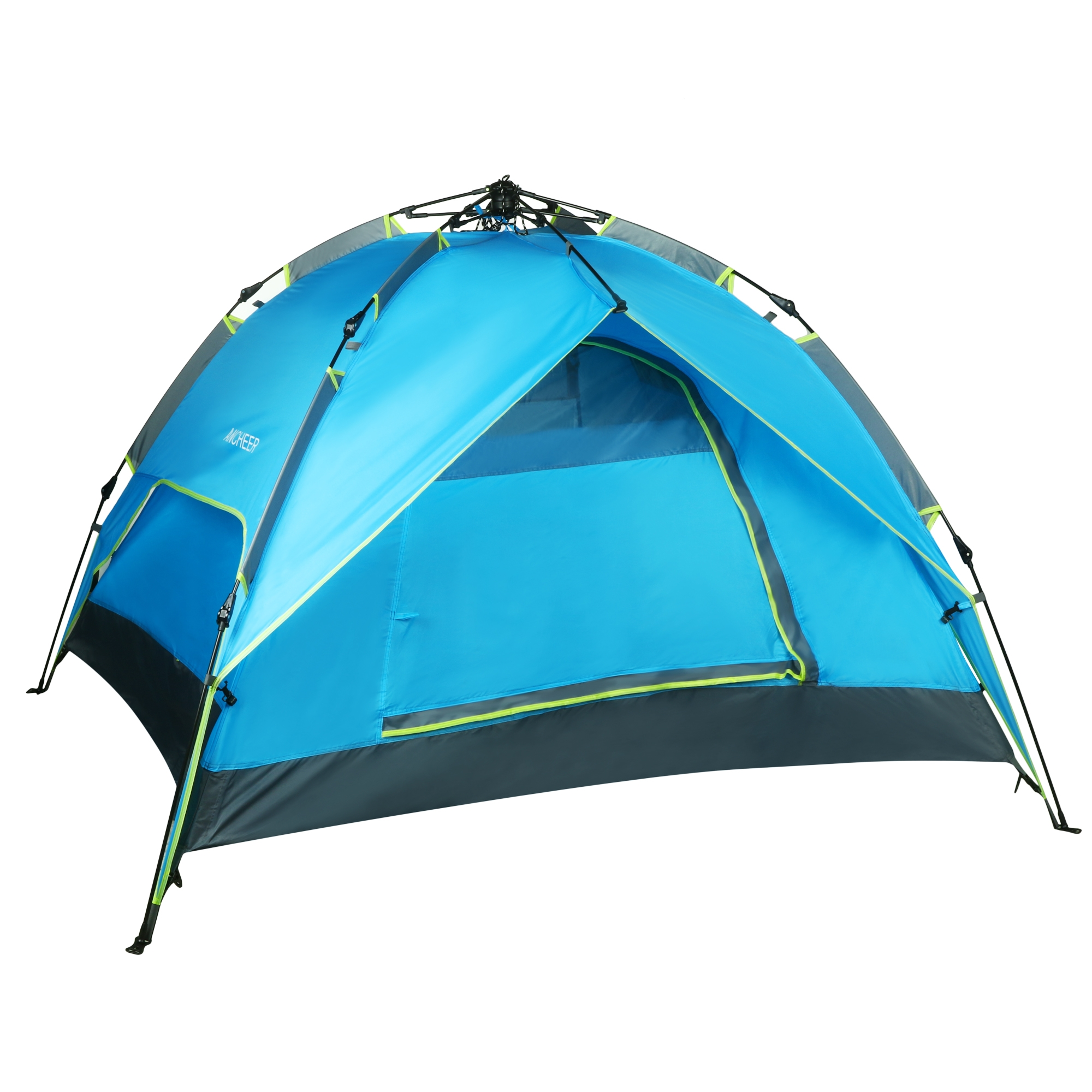 Instant Automatic Lightweight Layers 3-4 Person Pop Up Buckle Waterproof Camping Tent with Rainfly Carry Bag Family Tent by