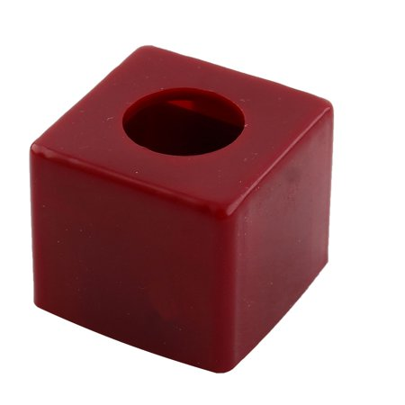 Plastic Billiards Pool Snooker Cue Retractable Chalk Pocket Cup Holder Burgundy ()