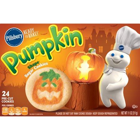 Pillsbury Ready To Bake! Pumpkin Shape Sugar Cookies, 11.0 Oz