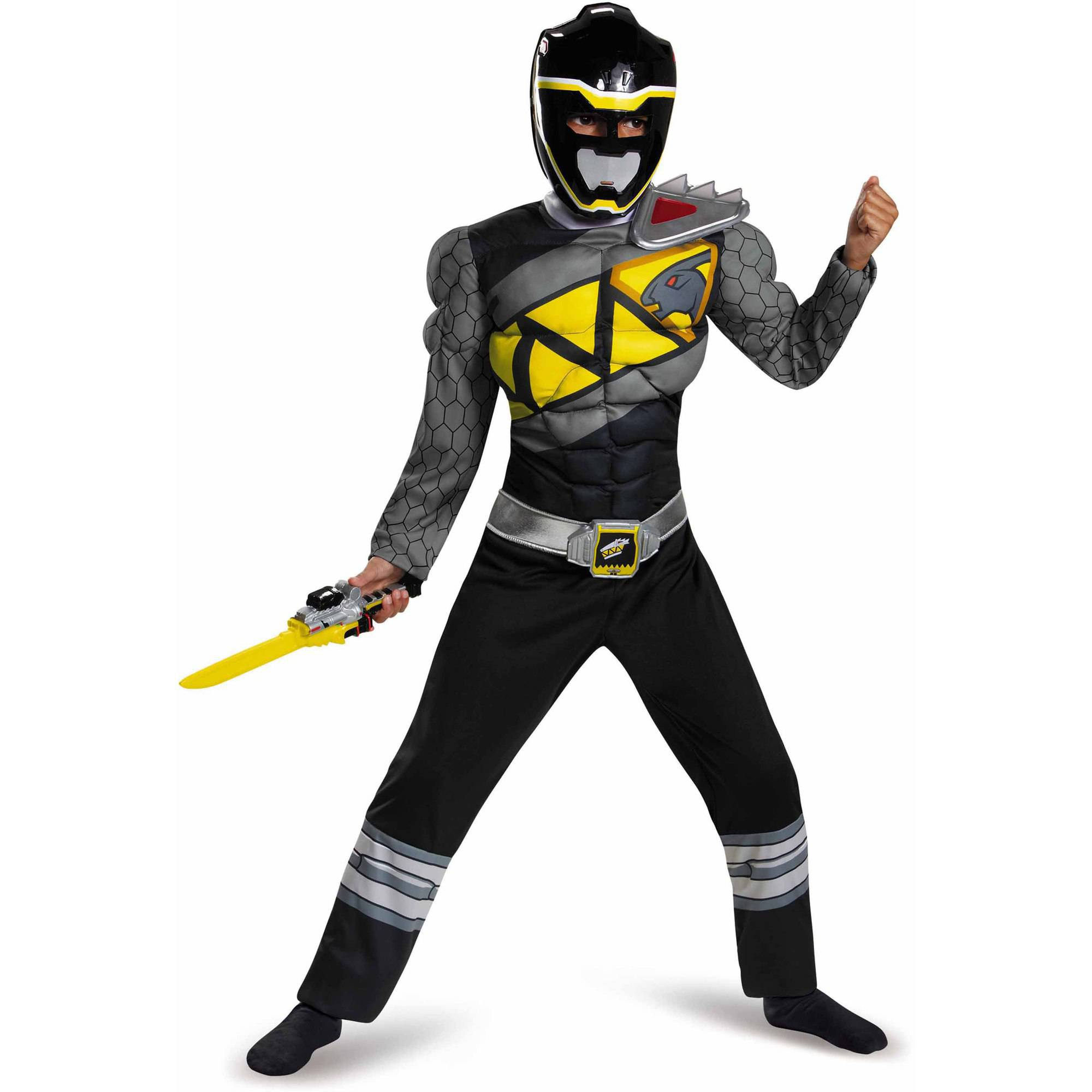Black Power Ranger Dino Charge Classic Muscle Child Halloween Costume