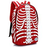 Cool Backpack, Skull Backpacks, Bags (red + white)