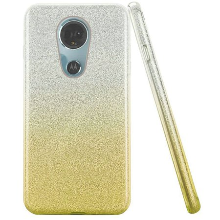 9899ab3a8929 Motorola Moto E5 Plus case Moto E5 Supra case by HR Wireless Two Tone Hard  Glitter TPU Cover Case for Motorola Moto E5 Plus   Moto E5 Supra - Gold ...