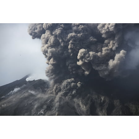 Sakurajima eruption Kagoshima Japan Stretched Canvas - Martin RietzeStocktrek Images (17 x