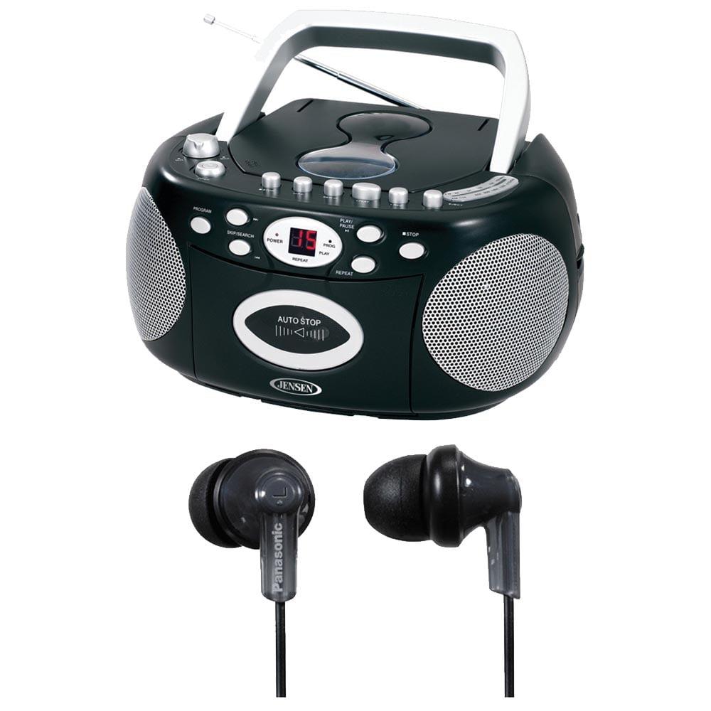 Jensen CD540 Portable Stereo Compact Disc Cassette Recorder w  AM FM Radio by Jensen
