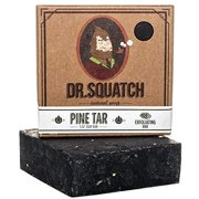 Dr. Squatch Pine Tar Soap – Mens Soap with Natural Woodsy Scent and Skin Scrub Exfoliation – Black Soap Bar Handmade with Pine Tar, Olive, Coconut Organic Oils in USA #1 Pine Tar 5 Oun