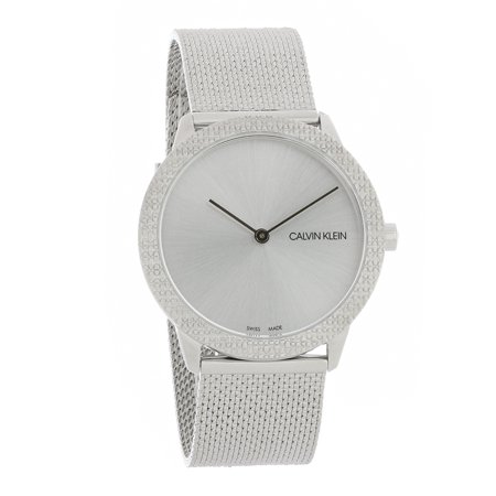 Calvin Klein Minimal Ladies Silver Dial Swiss Quartz Watch (Calvin Klein Flatiron 3-0 21 Upright Suitcase)