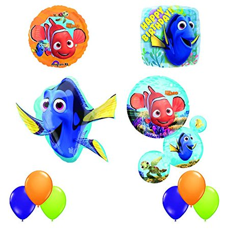 Finding Dory and Nemo Ultimate 10 pc Birthday Party Balloon Decorating Kit (Nemo Pinata)