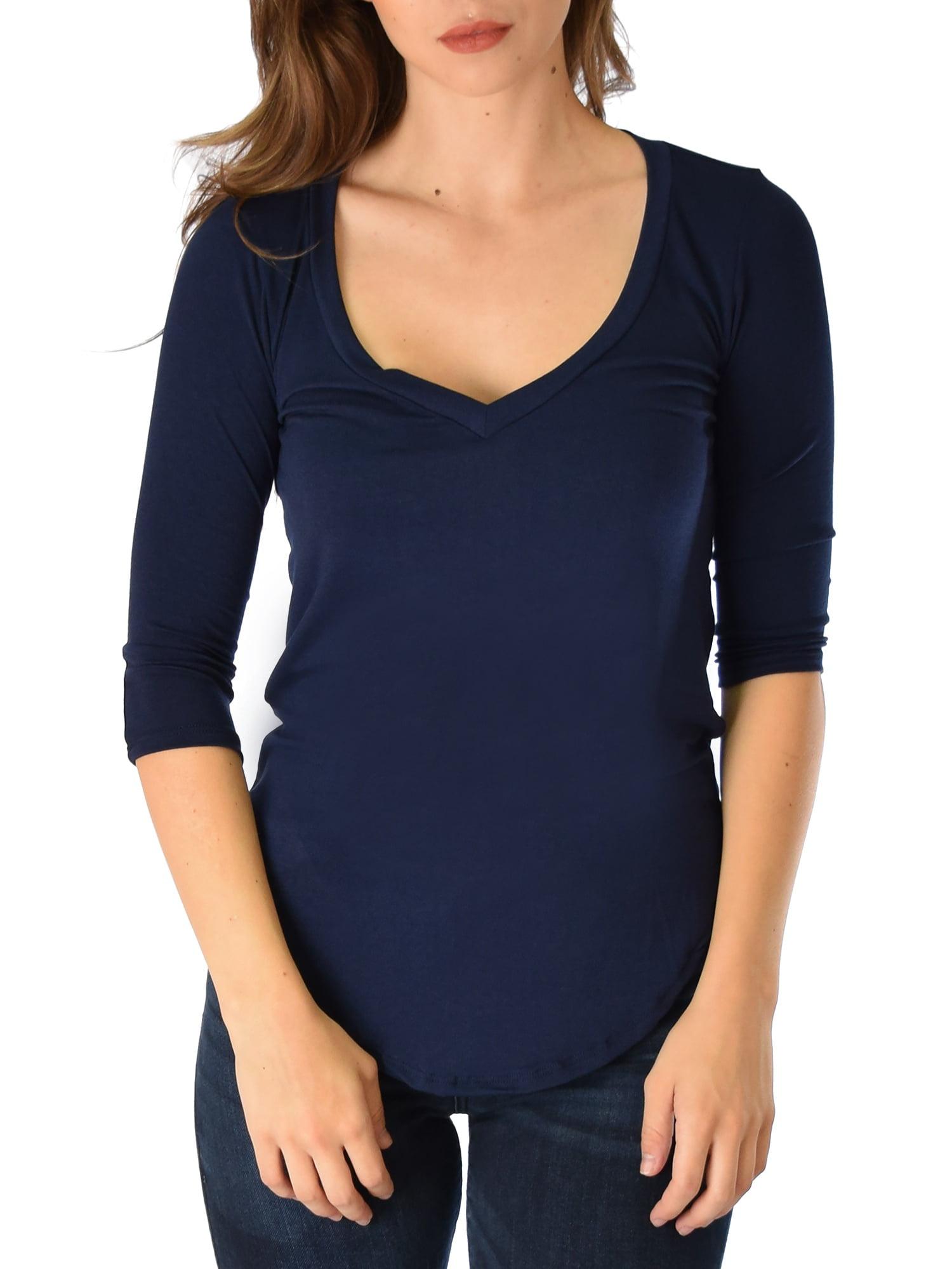 Women Light Blue Color V Collar 3//4 Sleeve Print Vintage Dress With Belt E140
