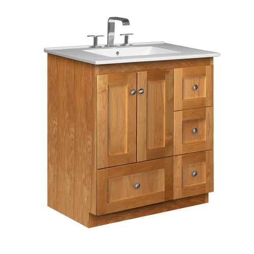 Strasser Woodenworks Simplicity 31'' Single Bathroom Vanity Set