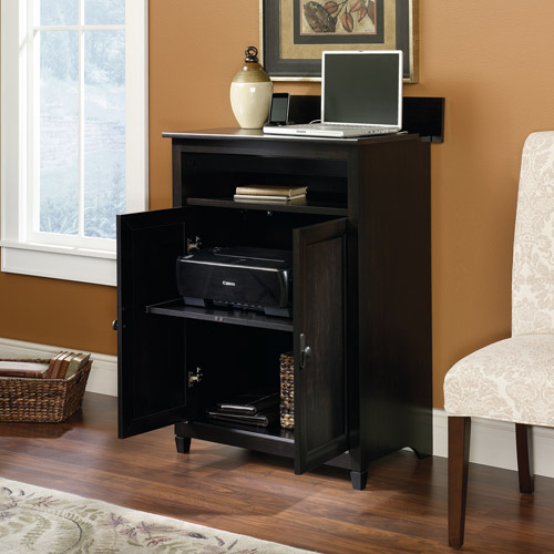 Sauder Edge Water SmartCenter Cabinet, Estate Black