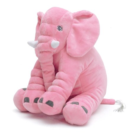 Soft Plush Stuffed Elephant Sleep Pillow Long Nose Baby