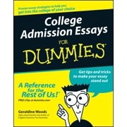 College Admission Essays For Dummies - eBook