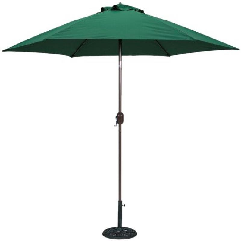 TropiShade 9 ft Bronze Aluminum Patio Umbrella with Green Polyester Cover by Overstock