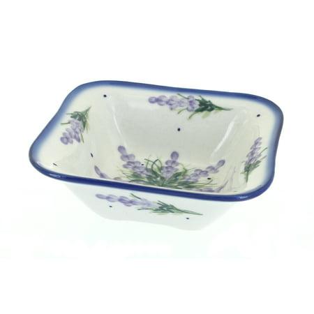 Polish Pottery Lavender Fields Square Bowl (Fsu Rose Bowl 2018)