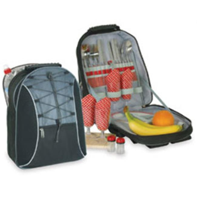DDI 1475769 Picnic Backpack For Four - Black-Dark Gray Case Of 4